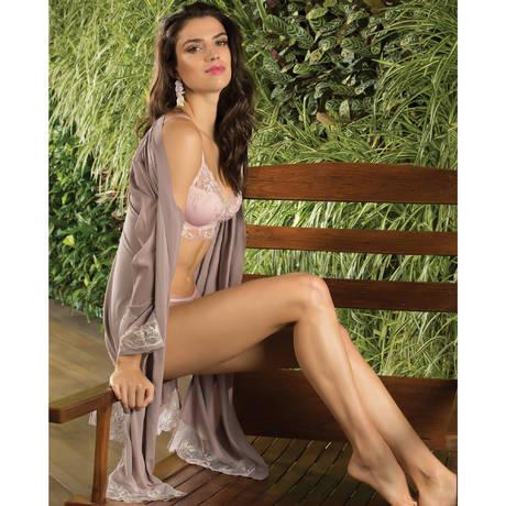 LISE CHARMEL Déshabillé lingerie Frisson Végétal Rose