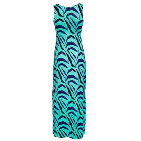 ANTIGEL Robe de plage longue L'Antigelwood Feuille Bleu