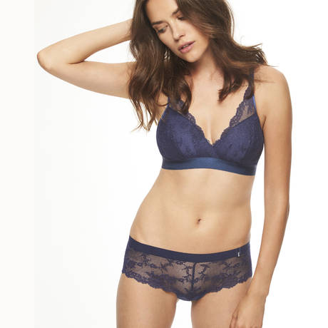 CHANTELLE Soutien-gorge sans armatures Everyday Lace Bleu Indigo