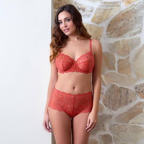 SANS COMPLEXE Soutien-gorge armatures Clémence Orange Cranberry