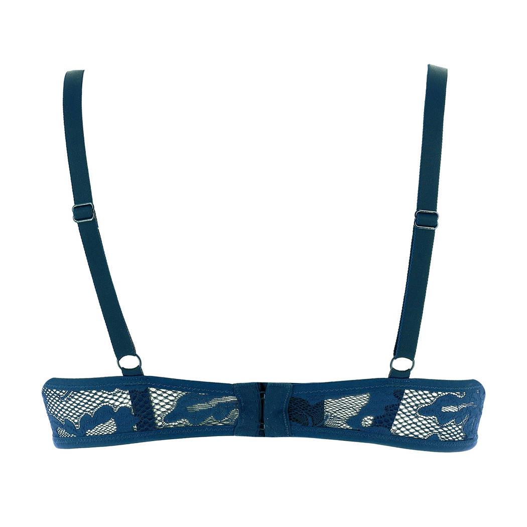EPURE DE LISE CHARMEL Soutien-gorge armatures triangle Vigne Sauvage Bleu Marine
