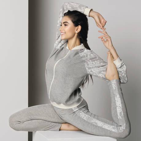 ANTIGEL Legging Cocoon Bien-Etre Chiné Gris