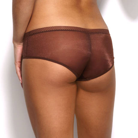 GOSSARD Shorty Glossies Rich Brown