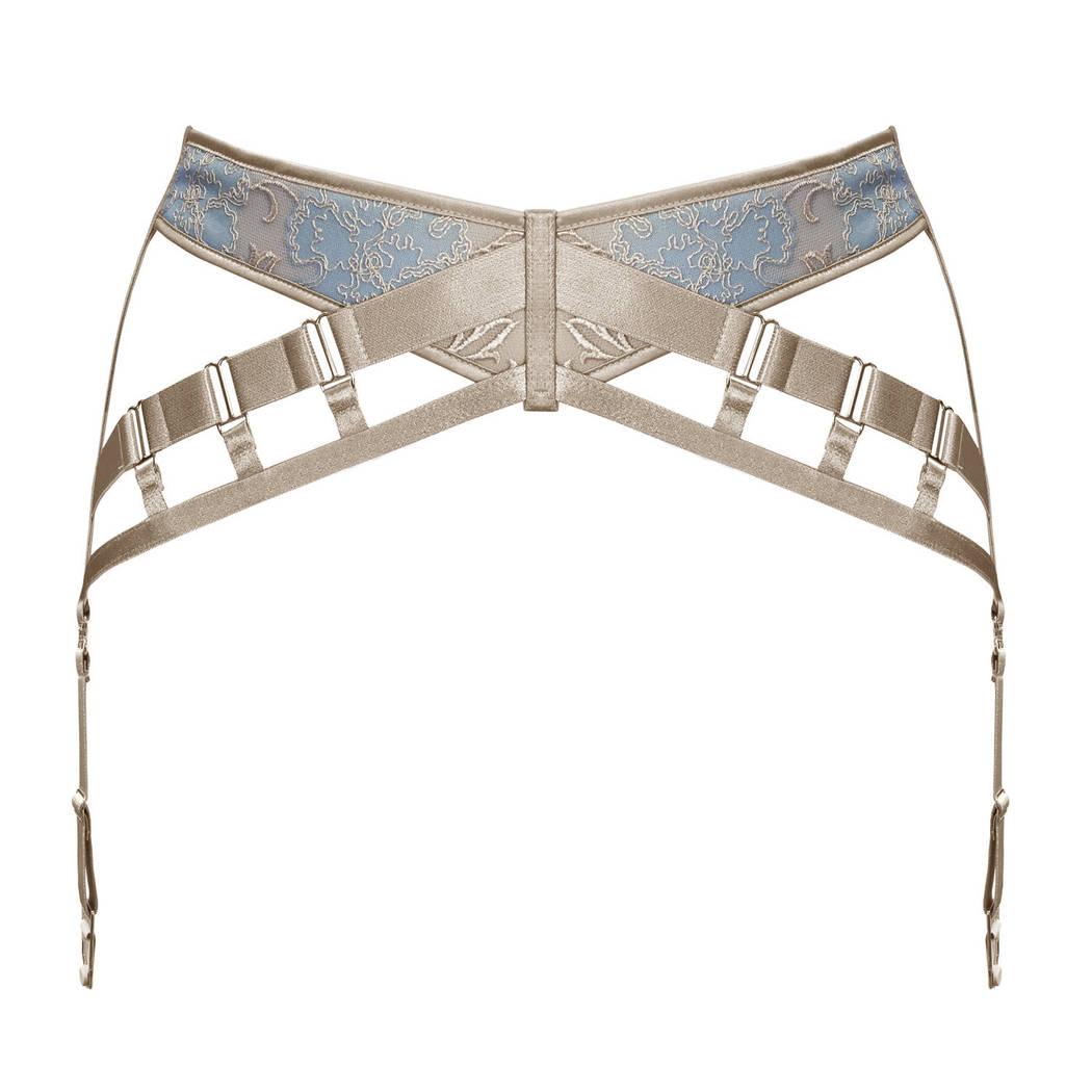 BORDELLE Porte-jarretelles Amaya Bleu