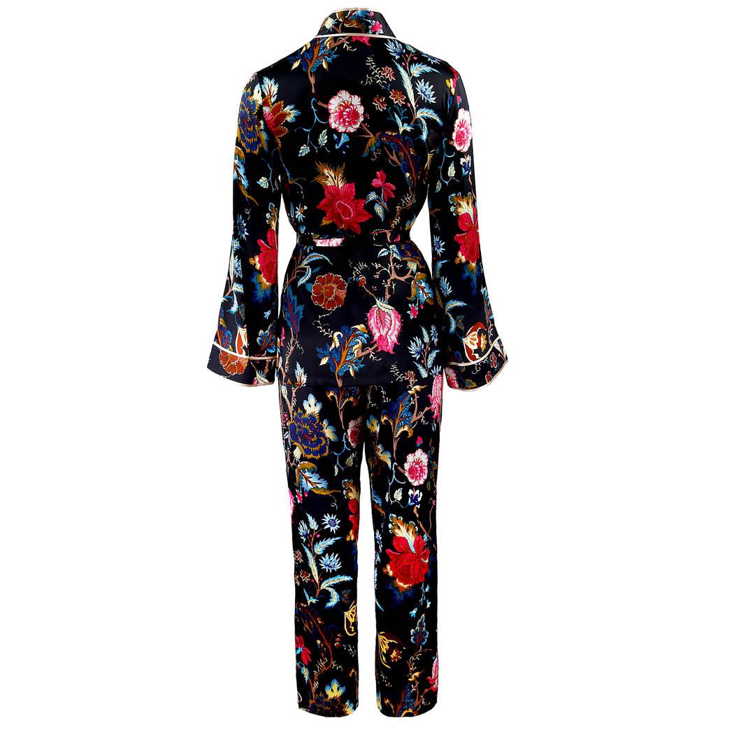 MARJOLAINE Pyjama en soie Fidji Imprimé Floral