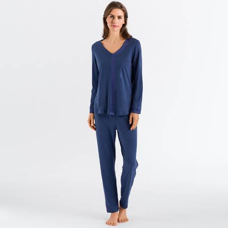 HANRO Pyjama Elara Horizon Blue