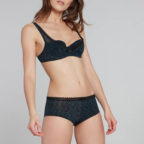 LOU Shorty Oxygène Noir/Bleu