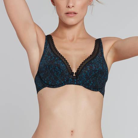 LOU Soutien-gorge foulard armatures Oxygène Noir/Bleu