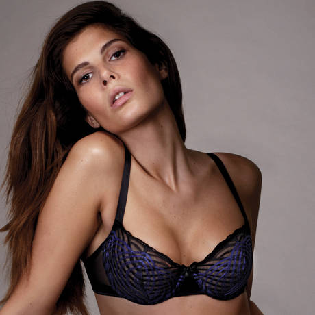 LOU Soutien-gorge corbeille Graphic Moon Noir/Bleu