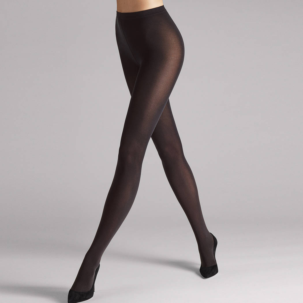 WOLFORD Collant 66D opaque Velvet de Luxe Nearly Black