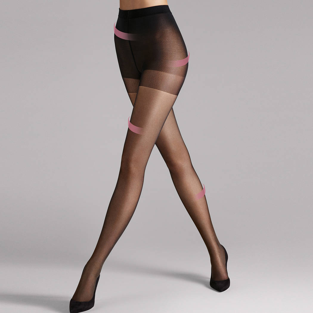 WOLFORD Collant 30D mat gainant Miss W Noir