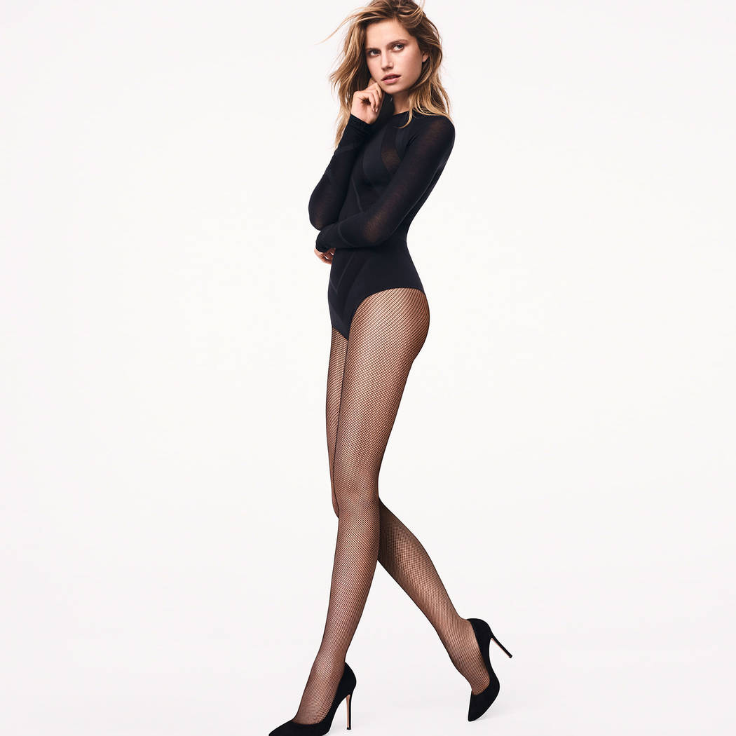 WOLFORD Collant micro-résille Twenties Tights Noir