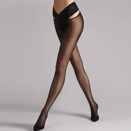 WOLFORD Collant 12D confort absolu Individual Noir