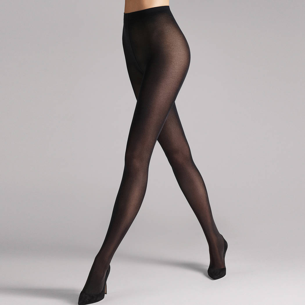WOLFORD Collant 50D confort maximal Satin Opaque Noir