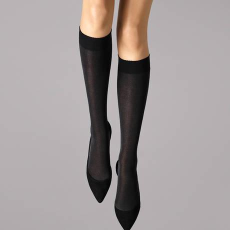 WOLFORD Mi-bas 50 deniers opaque Velvet de Luxe Noir