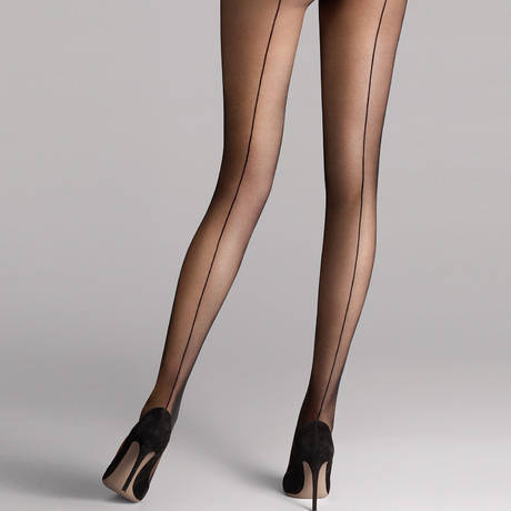 WOLFORD Collant 10 deniers ultra-fin Individual Noir
