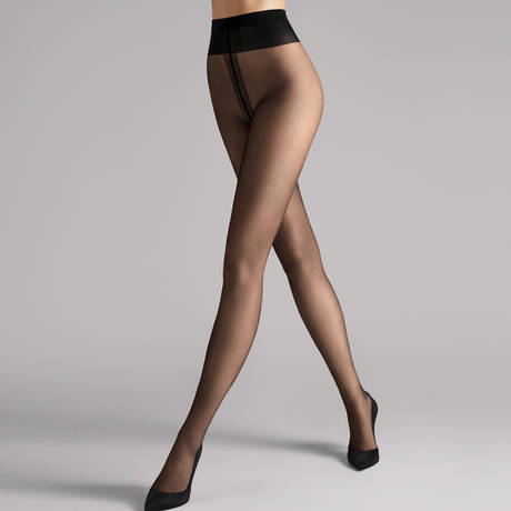 WOLFORD Collant 5 deniers ultra-transparent Individual Noir