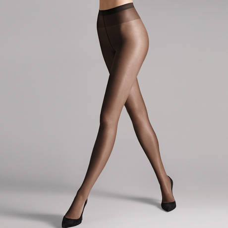 WOLFORD Collant 20 deniers transparent Satin Touch Nearly Black
