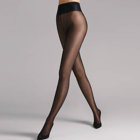 WOLFORD Collant 40 deniers semi-transparent Neon Noir