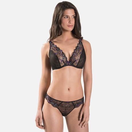 AUBADE Soutien-gorge triangle confort Femme Romantique Noir Vénus