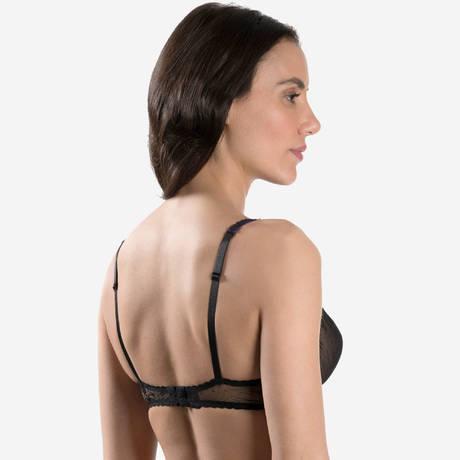 AUBADE Soutien-gorge triangle Femme Romantique Noir Vénus