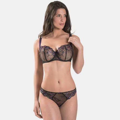 AUBADE Soutien-gorge corbeille confort Femme Romantique Noir Vénus