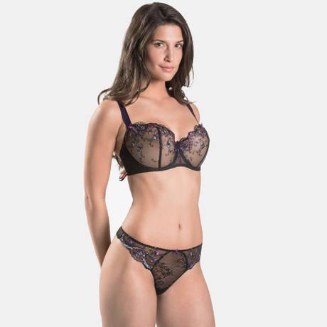 AUBADE Soutien-gorge corbeille confort Femme Romantique Noir Vénus 97357656d10