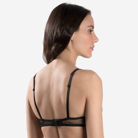 AUBADE Soutien-gorge corbeille Femme Romantique Noir Vénus