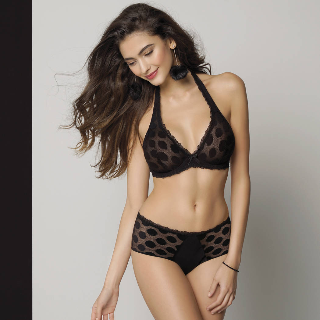 ANTIGEL Shorty Pois Bohème Noir