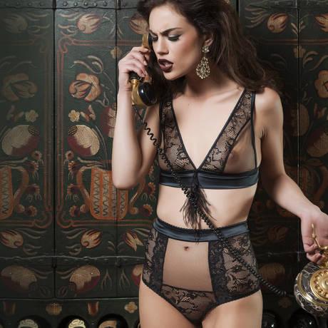 LES JUPONS DE TESS Culotte haute Lily Noir