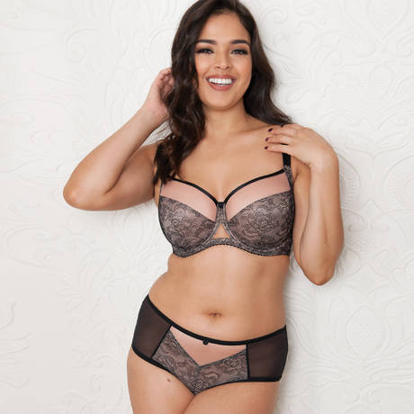 CURVY KATE Shorty Victory Amore Noir/Rose