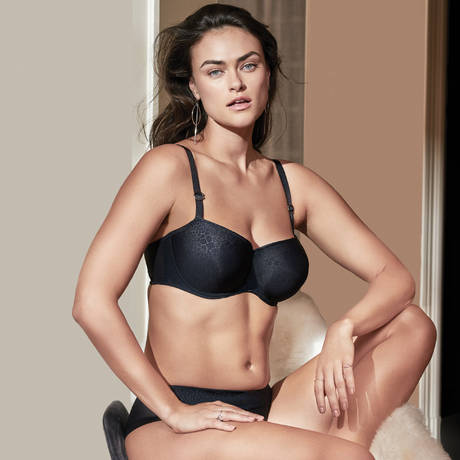 PRIMADONNA TWIST Soutien-gorge balconnet rembourré Guilty Pleasure Charcoal