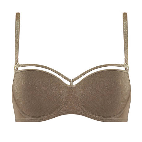 MARLIES DEKKERS Soutien-gorge balconnet Space Odyssey Gold and Shitake