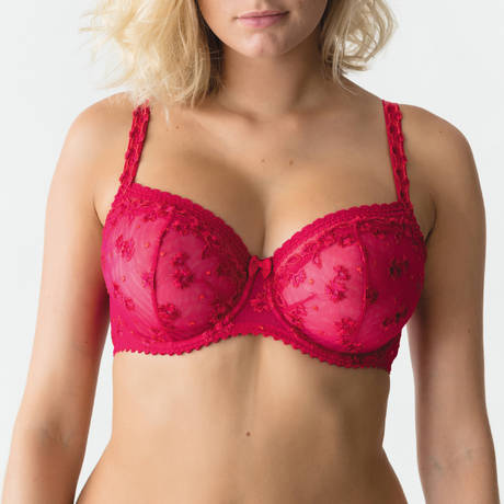 PRIMADONNA Soutien-gorge balconnet coutures verticales Ray of Light Persian Red