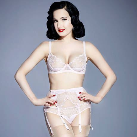 DITA VON TEESE Soutien-gorge balconnet Tryst Crystal Pink