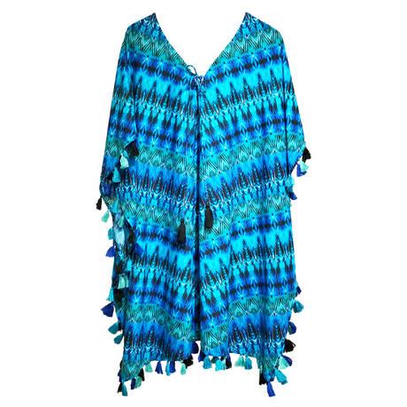 MIRACLESUIT Caftan Cabana Chic Bleu