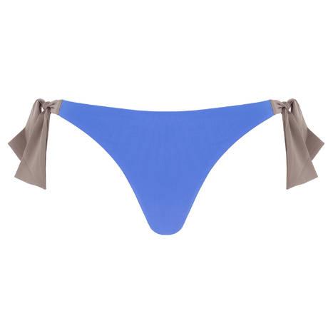 ANDRES SARDA Maillot de bain slip taille basse ficelles Belle Egypcian Blue