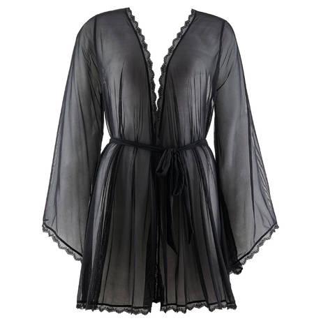 AUBADE Kimono Délicate Extase Noir Magie