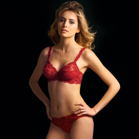 MILLESIA Slip sans coutures New Diamant Rouge