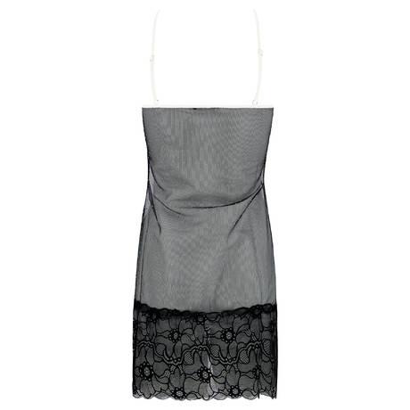 LES JUPONS DE TESS Nuisette Beverly Noir/Blanc