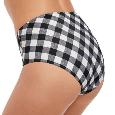 FREYA Maillot de bain culotte haute Totally Check Noir/Blanc