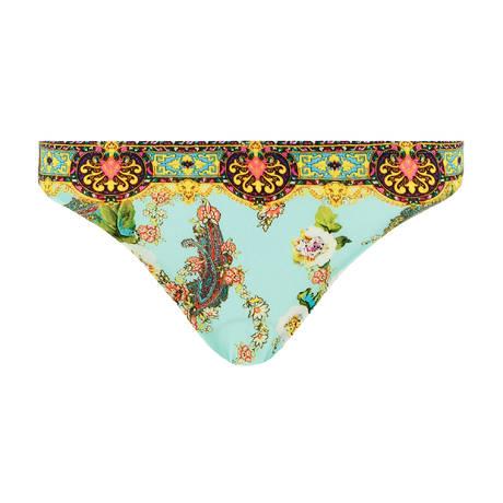LISE CHARMEL Maillot de bain slip taille basse Fleurs Lagon Lagon Azur