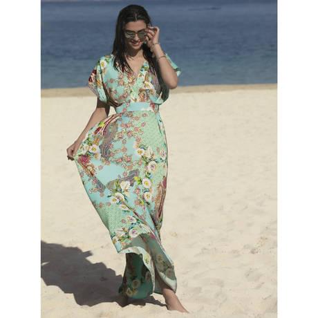 LISE CHARMEL Robe de plage Fleurs Lagon Lagon Azur