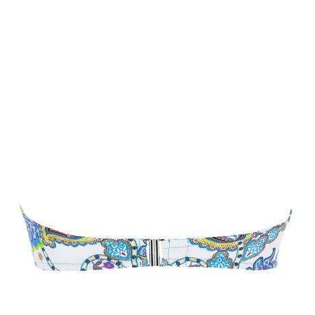 ANTIGEL Maillot de bain bandeau coques bonnets profonds La Bollywood Bleu Kashmir