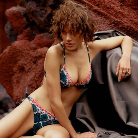 CHANTELLE Maillot de bain bikini Jungle Flame Python