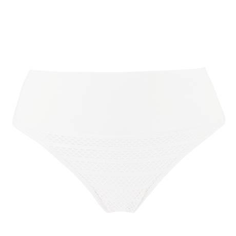 ANTIGEL Maillot de bain slip charme revers La Sporty Sirène Blanc