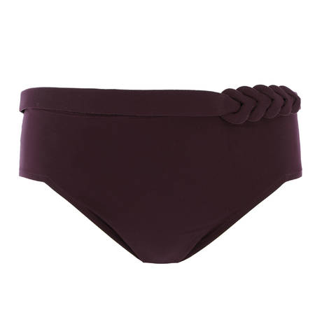 EMPREINTE Maillot de bain culotte haute Curl Pourpre