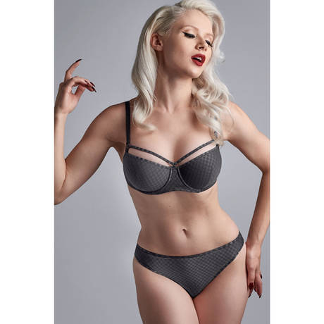 MARLIES DEKKERS String Space Odyssey Checkered Steel Grey