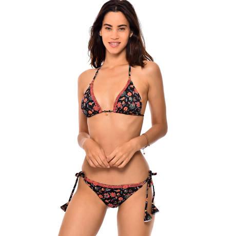 BANANA MOON Maillot de bain slip lacets brésilien Taka Couture Diani Noir