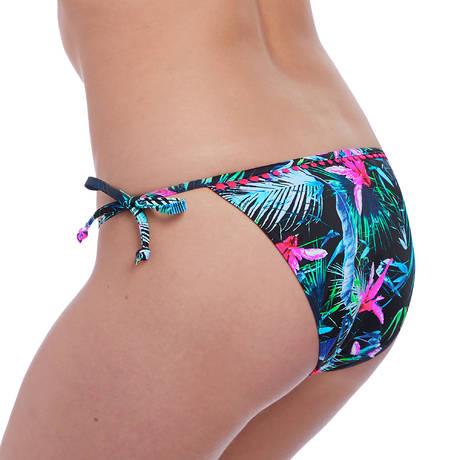 FREYA Maillot de bain slip lacets Jungle Flower Black Tropical